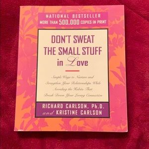 Don't sweat the small stuff in Love book